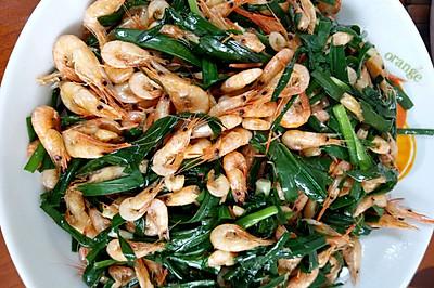 河虾炒菲菜