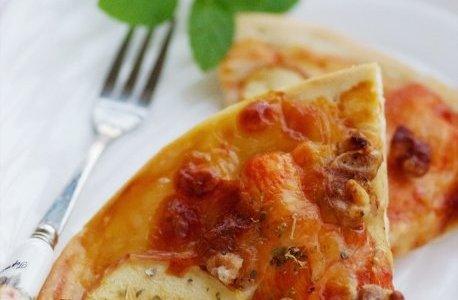 果香鸡肉无边脆底披萨的做法
