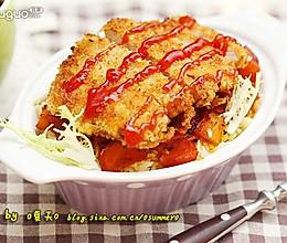 炸猪排番茄焗饭的做法