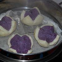 紫薯开花馒头的做法图解12