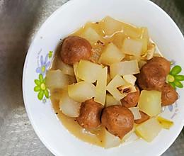 冬瓜炖牛肉丸子的做法