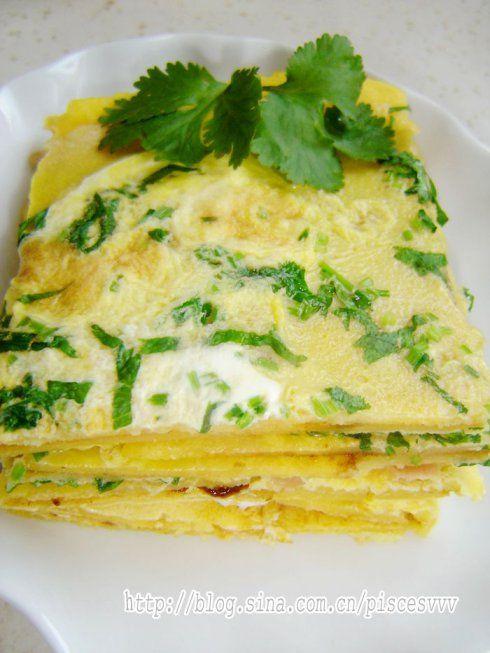 玉米杂粮鸡蛋饼的做法