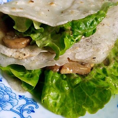 奶油蘑菇薄饼卷(简易轻食版)