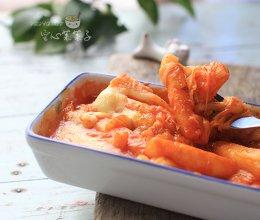芝士泡菜焗年糕的做法