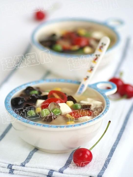 木耳豆腐汤的做法