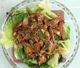 蚝油冬菇扒生菜的做法