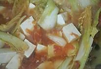 西红柿娃娃菜炖豆腐的做法