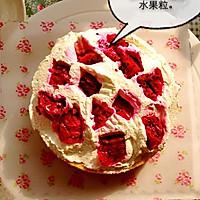 6寸水果奶油花篮裱花蛋糕(附戚风蛋糕制作)的做法图解14