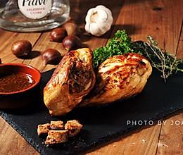 希腊风味填馅烤鸡的做法