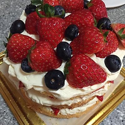 草莓裸蛋糕的做法 步骤5