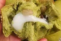 抹茶蜜豆麻薯餐包(汤种)的做法