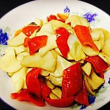 杏鲍菇炒红椒