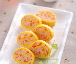 鲜虾蛋卷的做法
