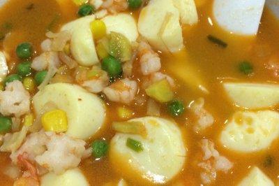 虾仁干贝豆腐汤