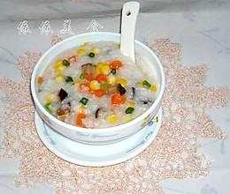 玉米胡萝卜香菇粥的做法