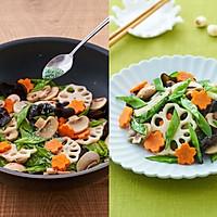 #爱妻菜谱 荷塘月色-素食小炒的做法图解2
