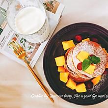 #橄榄中国味 感恩添美味#树莓芒果松饼