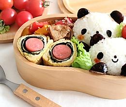 熊猫宝宝便当 与海苔火腿玉子烧的完美搭配的做法