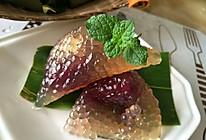紫薯西米粽的做法