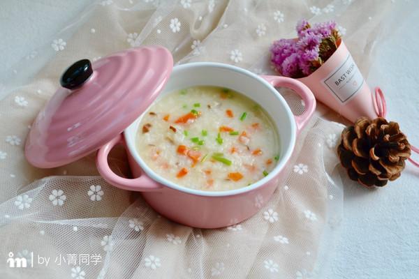 香菇胡萝卜鳕鱼粥的做法
