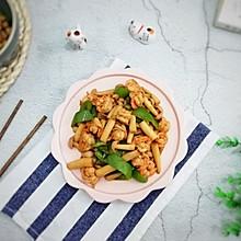 虾仁炒海鲜菇