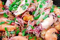 红葱头焗鸡虾鱿鱼的做法