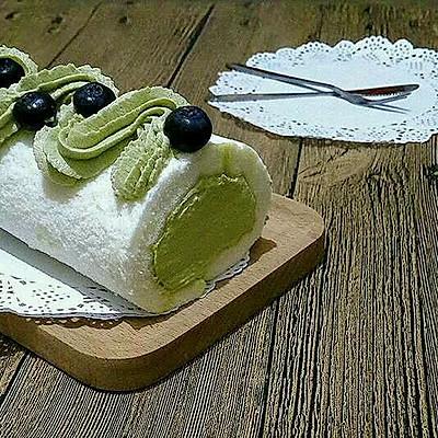 天使蛋糕卷(抹茶奶油馅)