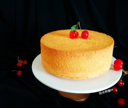 八寸戚风蛋糕#有颜值的实力派#的做法