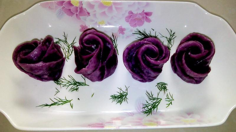 紫薯花卷的做法步骤