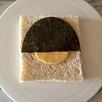 芝士萌娃三明治|樱桃小丸子#百吉福食尚达人#的做法图解6