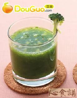 花椰菠菜苹果汁的做法