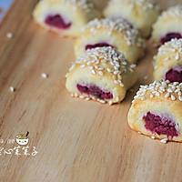 紫薯一口酥的做法图解1