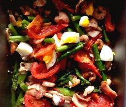 芦笋热沙拉的做法