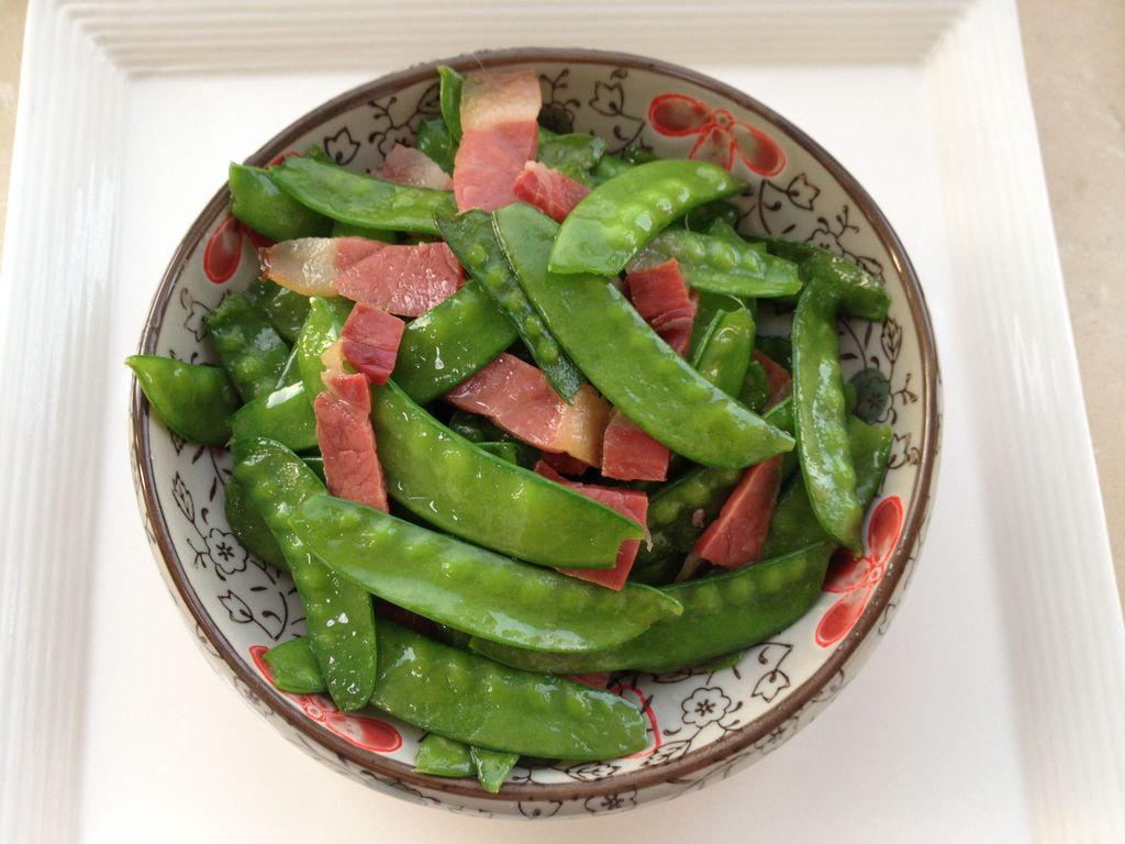 腊味荷兰豆的做法图解7