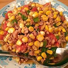 玉米炒肉末