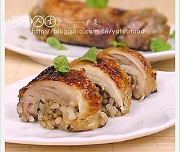 香烤米饭鸡卷的做法