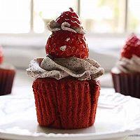 红丝绒小蛋糕(红曲版)的做法图解5