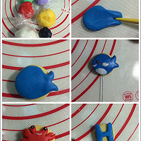 海洋翻糖小饼干的做法图解3