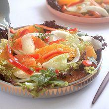 夏日缤纷橙茴沙拉#一机多能 一席饪选#