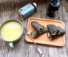 宝宝辅食——黑芝麻卷饼的做法