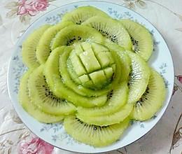 奇异果水果拼盘绿牡丹附猕猴桃巧剥皮方法的做法