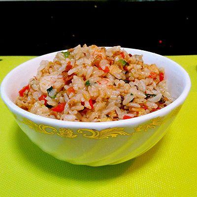 虾仁杂蔬蛋炒饭的做法 步骤6