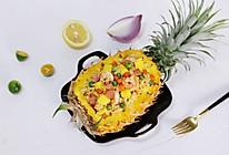 鲜虾菠萝炒饭的做法