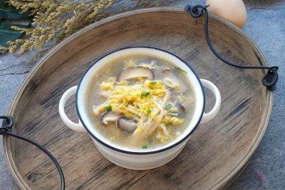 鲜掉眉毛的鸡蛋菌菇汤‼️减肥减脂必备❗️