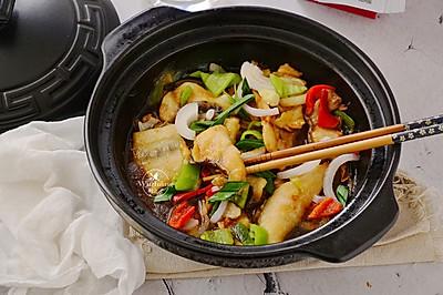 砂锅焗鲢鱼块