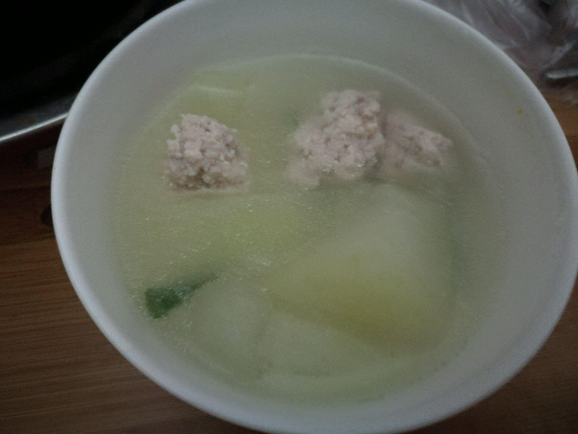 肉糜冬瓜汤的做法图解1