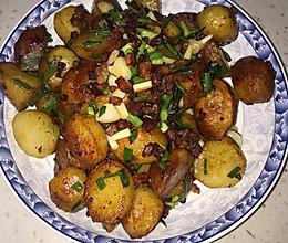 土豆香肠的做法