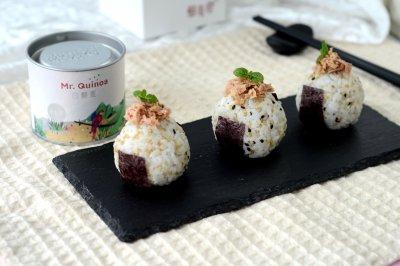 藜麦金枪鱼饭团