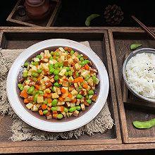 #花10分钟,做一道菜!#炒素丁+椰香米饭