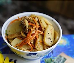#精品菜谱挑战赛#茭白猪肉炒年糕的做法